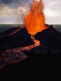 Puu Oo Crater Erupting