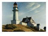 Phare de Two Lights Giclée par Edward Hopper