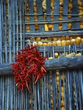 Chili Peppers and Corn Drying