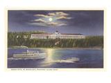 Moon over Grand Hotel  Mackinac Island  Michigan