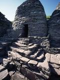 Monks' Beehive Huts at Skellig Island Monastery  Ireland