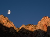 Moon over Streaked Wall Formation