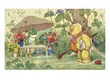 Frog Flower Seller and Bear Cellist