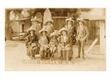 American Tourists in Sombreros  Tijuana  Mexico