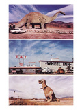 Highway Attractions  Dinosaurs  Retro