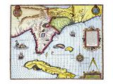 Florida: Map  1591