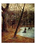 Gauguin: Skaters  1884-85