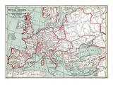 Map Of Europe  12Th Century