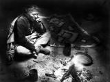 Navajo Man Smoking  C1915