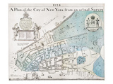 New York City Map  1728
