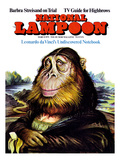 National Lampoon  March 1971 - Monal Lisa Monkey  daVinci's Undiscovered Notebook