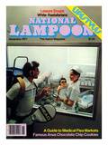 National Lampoon  November 1977 -  A Guide to Medical Flea Markets
