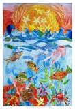 Poisson Reproduction d'art par Kaeli Smith