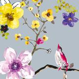 Blossom Birds I Reproduction d'art par Sandra Jacobs