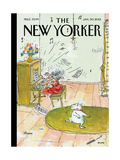 The New Yorker Cover - January 30, 2012 Giclée premium par George Booth