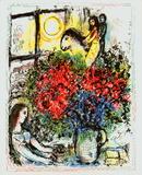 La Chevauchee Reproduction d'art par Marc Chagall