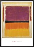 Sans titre Violet, noir, orange, jaune sur blanc et rouge, 1949 Reproduction encadrée par Mark Rothko