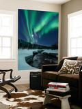 Aurora Borealis over Blafjellelva River in Troms County  Norway