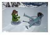 Vogue - November 1968 - Models Filming on Glacier