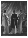 Vogue - April 1933 - Three Women in Augustabernard Gowns