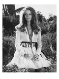 Vogue - January 1969 - Veruschka Kneeling in a Clearing