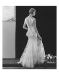 Vogue - March 1934 - White Gown with Deep V-Back