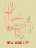 New York City (Cement Green & Orange) Sérigraphie par LinePosters