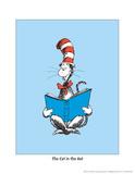 The Cat in the Hat (on blue) Reproduction d'art par Theodor (Dr. Seuss) Geisel