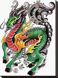 My Little Dragon Tableau sur toile par Joe Kowalski