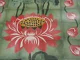 Detail of Temple Lotus Flower Tile Floor  Thai Buddhist Temple  Island of Penang  Malaysia