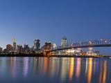 The Skyline of Cincinnati  Ohio  Usa