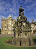 Fountain on the Grounds of Holyroodhouse Palace  Edinburgh  Scotland