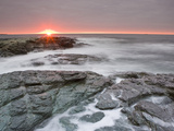 Sunrise Near Brenton Point State Park on Ocean Road in Newport  Rhode Island  Usa