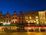 Cafes in Downtown Bruges Marketplace  Belgium