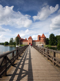 Island Castle on Lake Galve  Trakai Historical National Park  Trakai  Lithuania