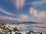 Mykonos Harbor at Sunset  Mykonos  Greece