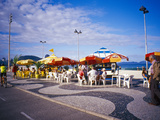 People Enjoying a Meal Near Copacabana Beach  Rio De Janeiro  Brazil