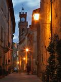 Twilight in Pienza  Tuscany  Italy