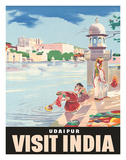 Lake Udaipur: Visit India  c1957