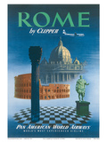 Pan American: Rome by Clipper - Vatican and Coliseum  c1951