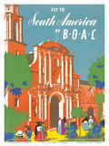 British Overseas Airways Corporation: Fly to South America by BOAC  c1950s