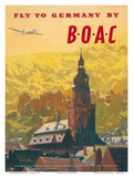 British Overseas Airways Corporation: Fly to Germany by BOAC  c1950s