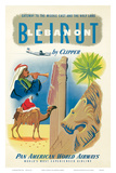 Pan American: Beirut - Lebanon by Clipper c1950s