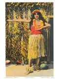 Hula Girl  Honolulu  Hawaii  c1930s
