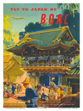 British Overseas Airways Corporation: Fly to Japan by BOAC  c1950s