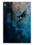 Flying Whales Reproduction d'art par Alex Cherry
