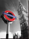 Big Ben & Underground Sign Tableau sur toile