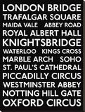 Bus de Londres : plaques vintage Tableau sur toile