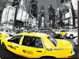 Rush Hour Times Square-Yellow Cabs Tableau sur toile