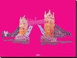 Visit London-Tower Bridge Tableau sur toile